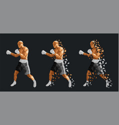 abstract boxers fighting against each other vector image