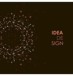 Abstract idea design in connect style vector
