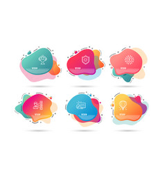 Air balloon opinion and approved shield icons vector