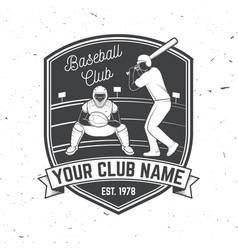 baseball or softball club badge vector image