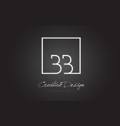 Bb square frame letter logo design with black and vector