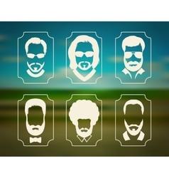 beard vector image