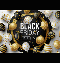 black friday sale promotion poster or banner with vector image