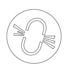 Broken link icon vector