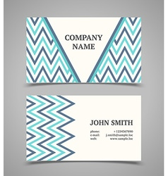 Business card template Modern retro style vector