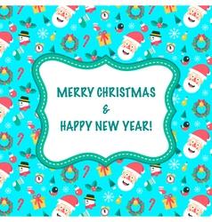Card Christmas Blue vector image