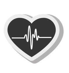 Cardio pulse heart isolated design vector
