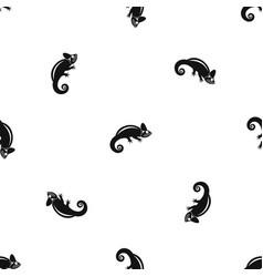 Chameleon pattern seamless black vector