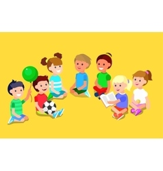 childrens day child vector image