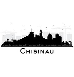 Chisinau moldova city skyline silhouette with vector