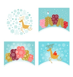 Christmas design elements set New year greetings vector image