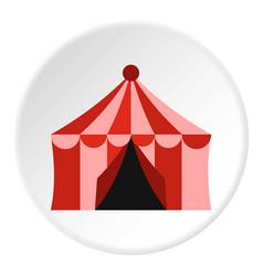 circus tent icon circle vector image