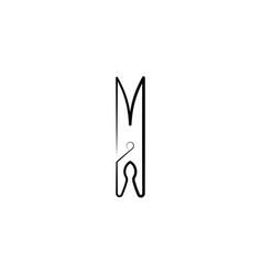 cloth clip icon design vector image