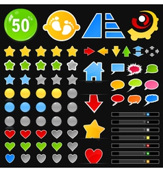 Collection of buttons8 vector image