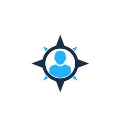 compass user logo icon design vector image