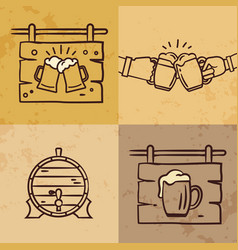 craft beer logo collection lettering vector image