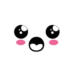 Cute kawaii cartoon face vector