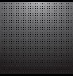 Dark pegboard background vector image
