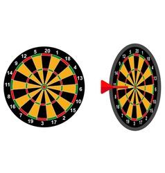 darts game arrow vector image