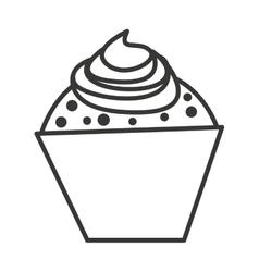 delicious cupcake silhouette icon vector image