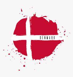 Denmark watercolor national country flag icon vector
