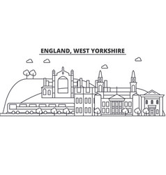England west yorkshire architecture line skyline vector