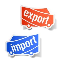 Export and import labels vector