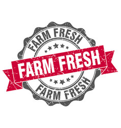 farm fresh stamp sign seal vector image