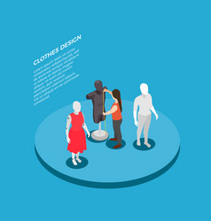fashion clothing design isometric composition vector image
