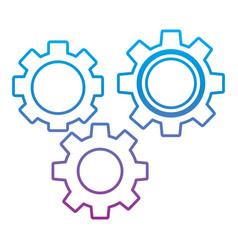 Gears three icon image vector