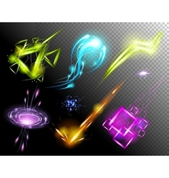 Glowing Light Effect set Sparkling Efect vector