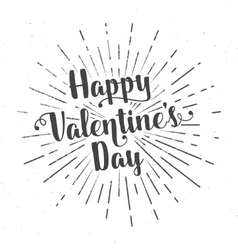 Happy Valentine s Day text and lettering vector