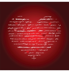 Heart Love background vector image