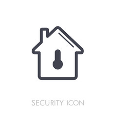 house safety lock with keyhole icon vector image