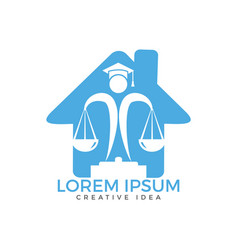 Juridical legal center emblem vector