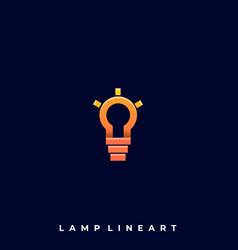 lamp line art template vector image
