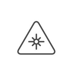 Laser warning line icon vector