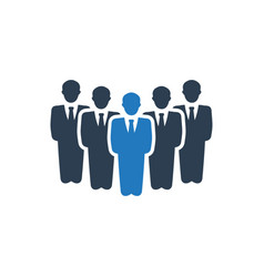 Leadership business group icon vector
