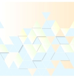 Light geometric technology background Triangles vector