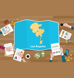 los angeles usa united states america city region vector image
