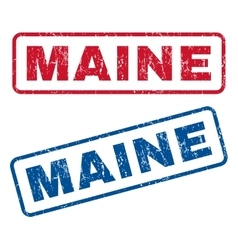 Maine Rubber Stamps vector