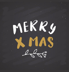 merry christmas calligraphic lettering vector image