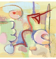 Modern art abstract painting vector