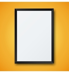 Modern frame with shadow vector