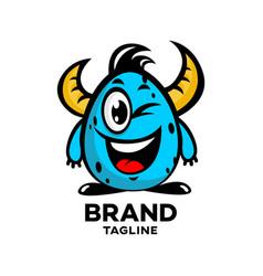 Modern mascot monster logo vector