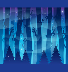 Mysterious forest theme image 6 vector
