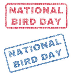 national bird day textile stamps vector image