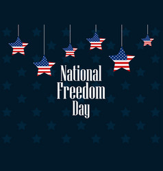 national freedom day 1st of february hanging vector image