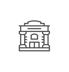 old building line icon vector image