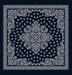 Ornament bandana print traditional vector